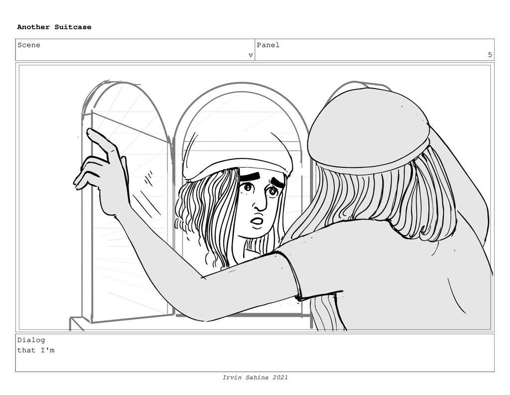 Scene v Panel 5 Dialog that I'm Another Suitcas...