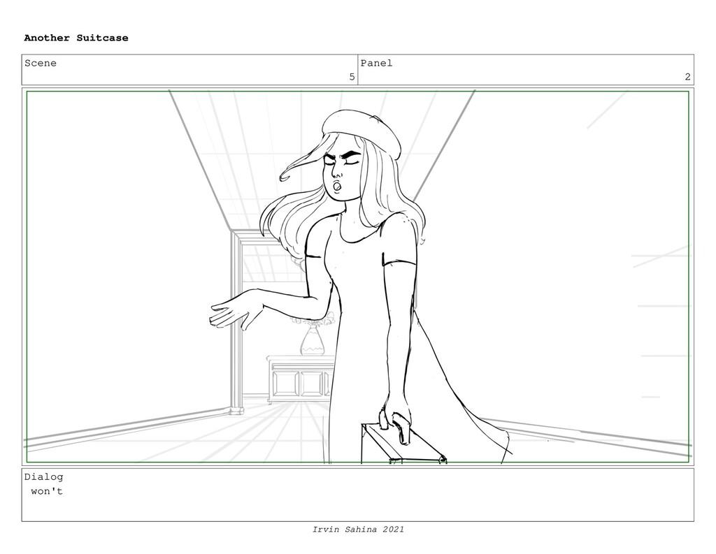 Scene 5 Panel 2 Dialog won't Another Suitcase I...