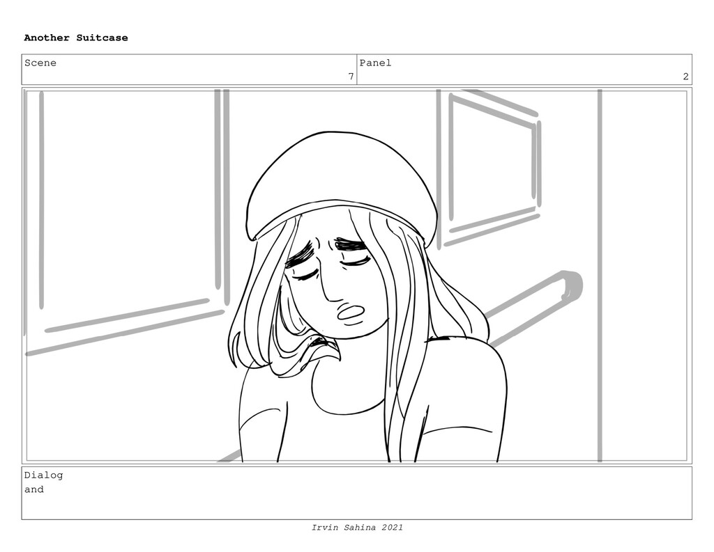 Scene 7 Panel 2 Dialog and Another Suitcase Irv...