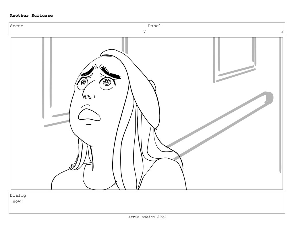 Scene 7 Panel 3 Dialog now! Another Suitcase Ir...