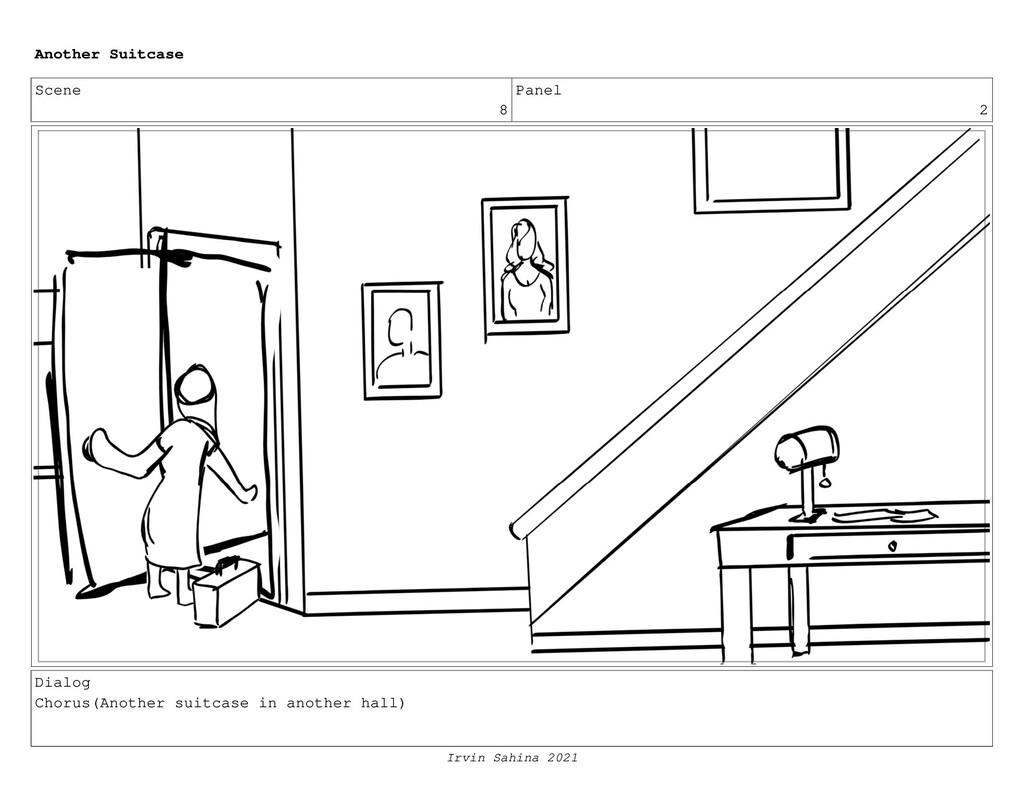Scene 8 Panel 2 Dialog Chorus(Another suitcase ...