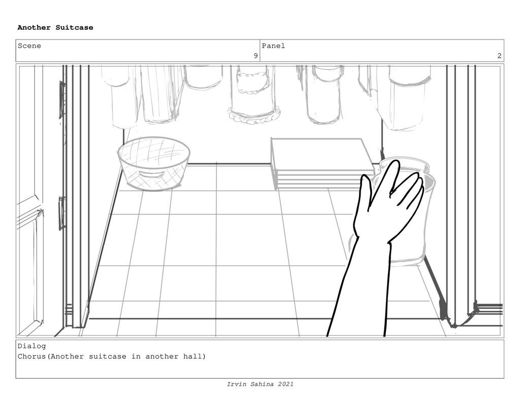 Scene 9 Panel 2 Dialog Chorus(Another suitcase ...