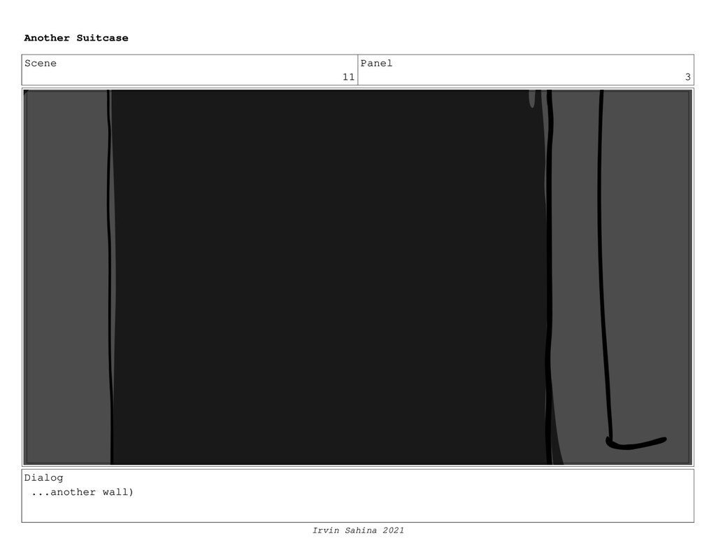 Scene 11 Panel 3 Dialog ...another wall) Anothe...