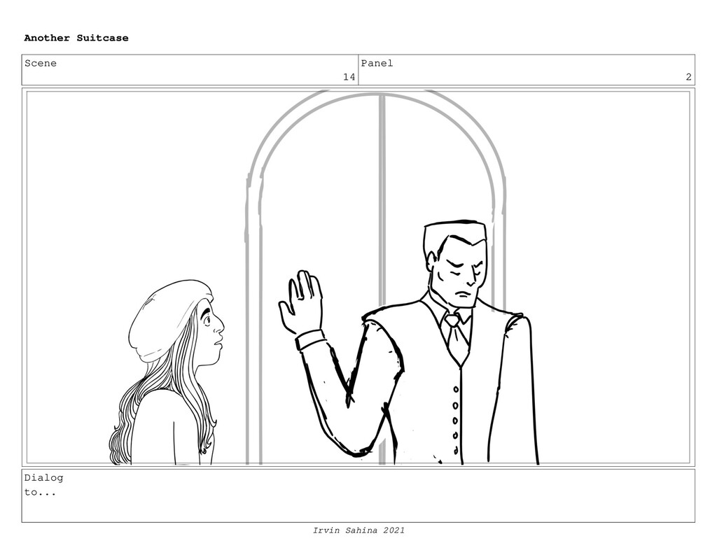 Scene 14 Panel 2 Dialog to... Another Suitcase ...