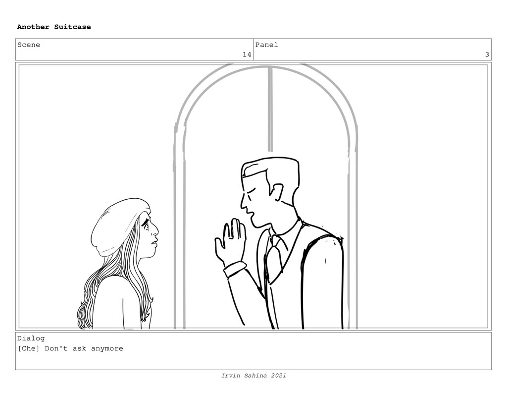 Scene 14 Panel 3 Dialog [Che] Don't ask anymore...