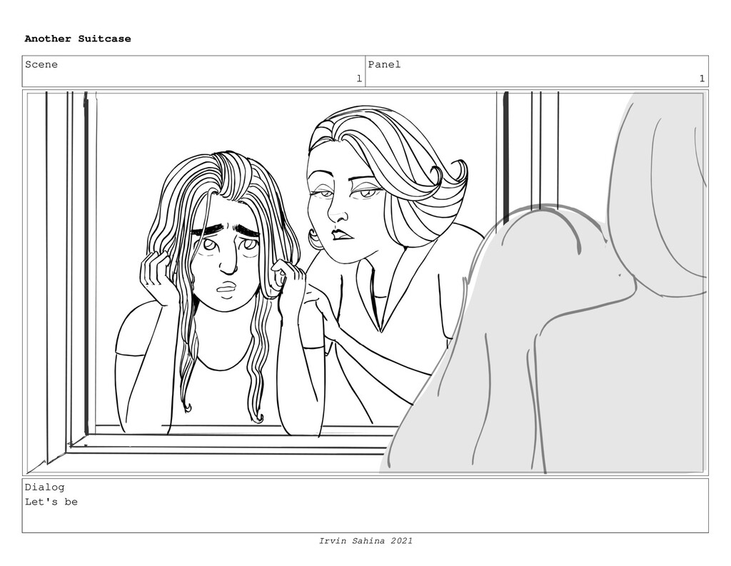 Scene l Panel 1 Dialog Let's be Another Suitcas...