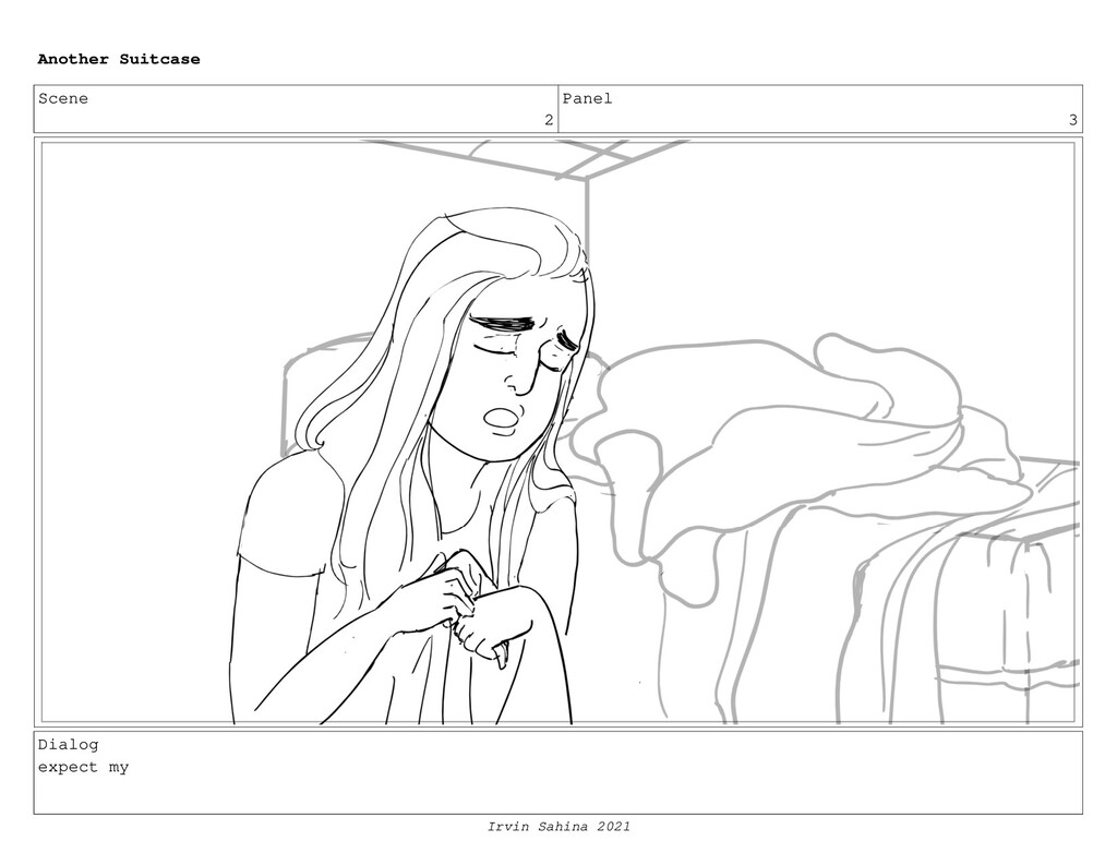 Scene 2 Panel 3 Dialog expect my Another Suitca...