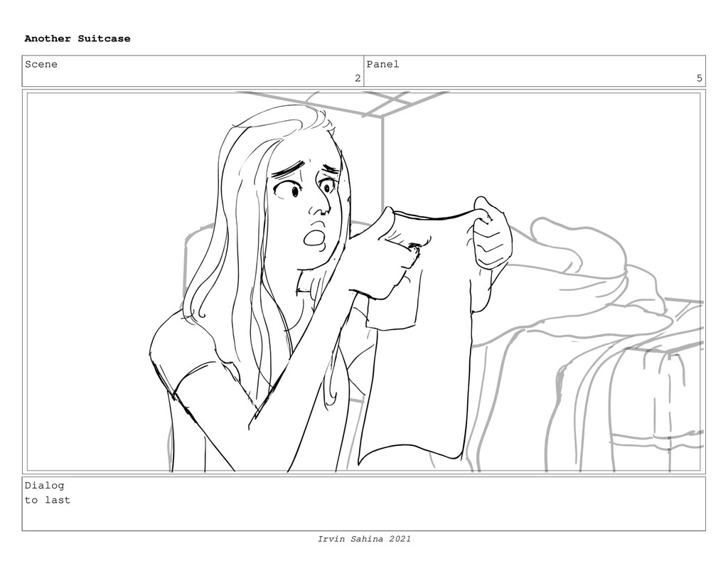 Scene 2 Panel 5 Dialog to last Another Suitcase...