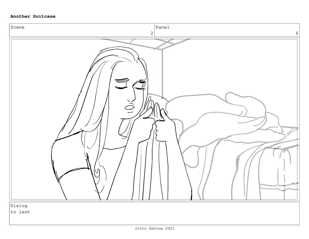Scene 2 Panel 6 Dialog to last Another Suitcase...