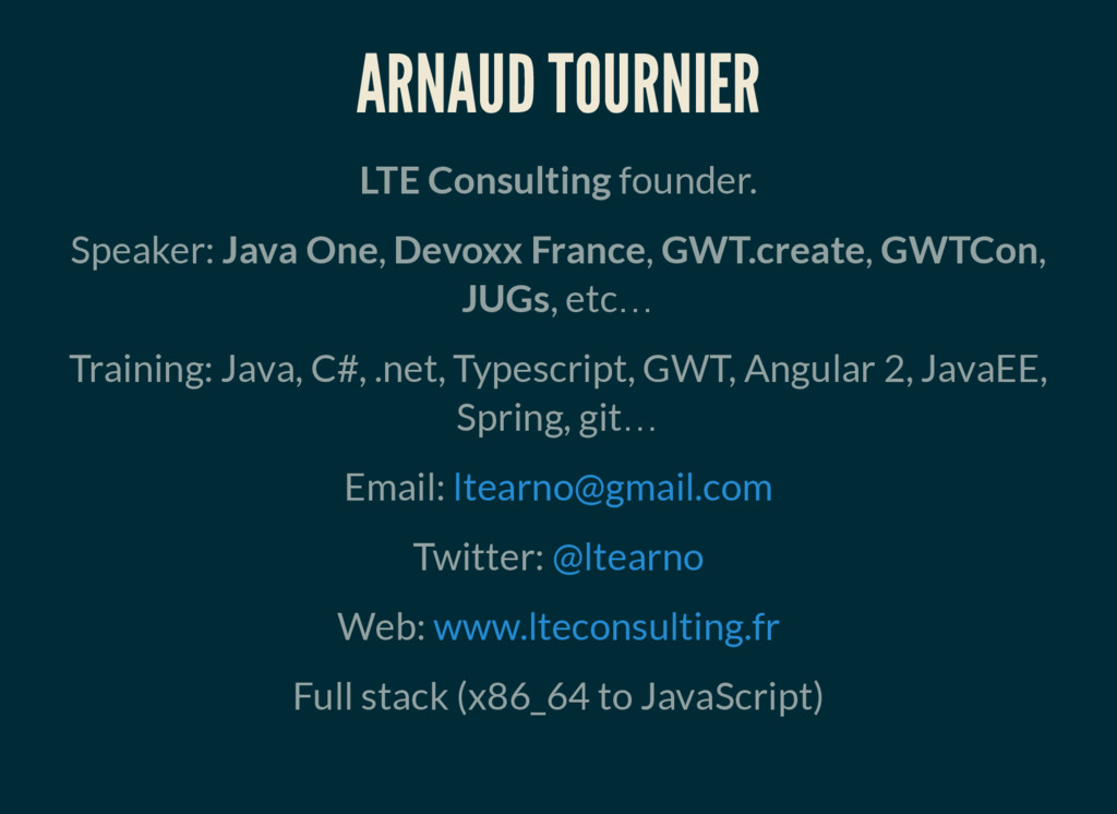 ARNAUD TOURNIER LTE Consulting founder. Speaker...