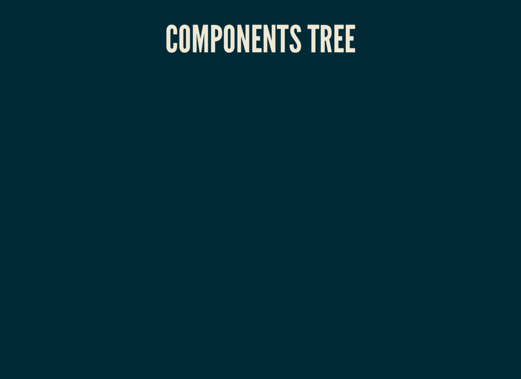 COMPONENTS TREE