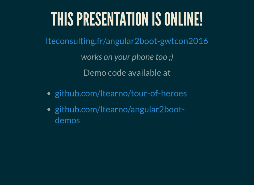 THIS PRESENTATION IS ONLINE! lteconsulting.fr/a...
