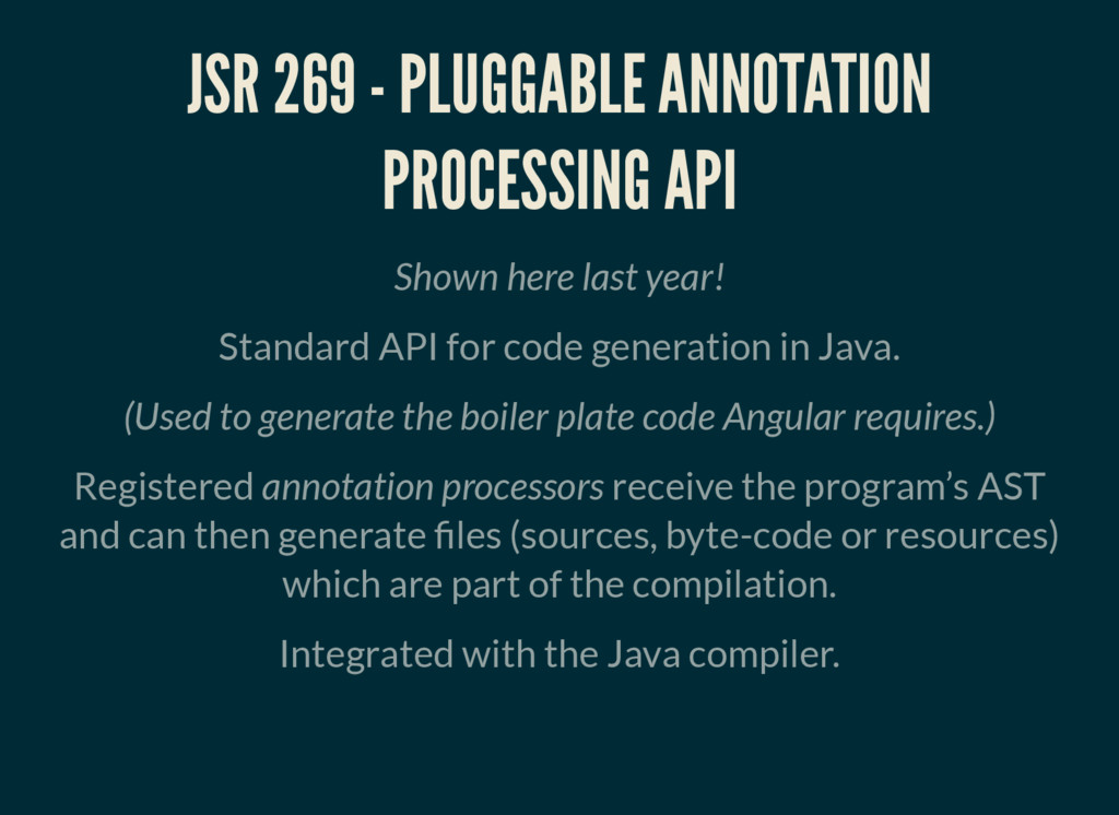 JSR 269 - PLUGGABLE ANNOTATION PROCESSING API S...