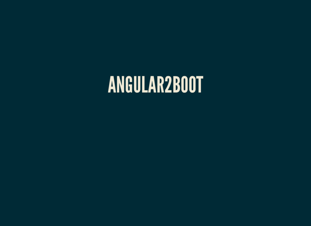 ANGULAR2BOOT