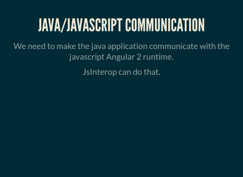 JAVA/JAVASCRIPT COMMUNICATION We need to make t...