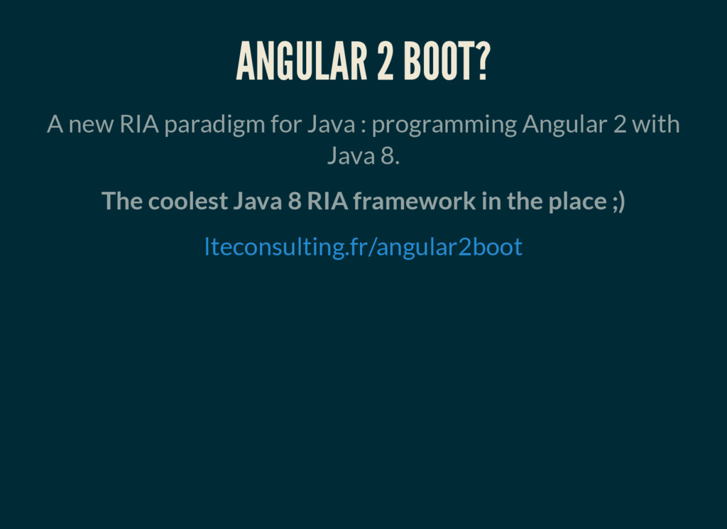 ANGULAR 2 BOOT? A new RIA paradigm for Java : p...