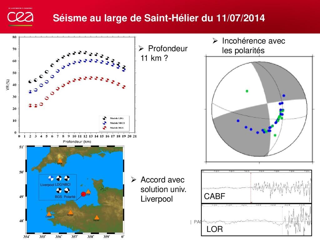 | PAGE 14 Séisme au large de Saint-Hélier du 11...