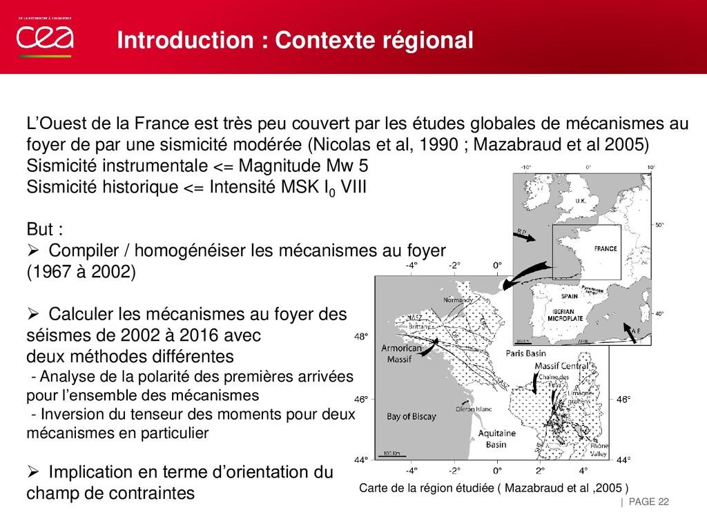 | PAGE 22 Introduction : Contexte régional L'Ou...