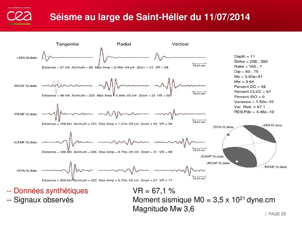 | PAGE 29 Séisme au large de Saint-Hélier du 11...