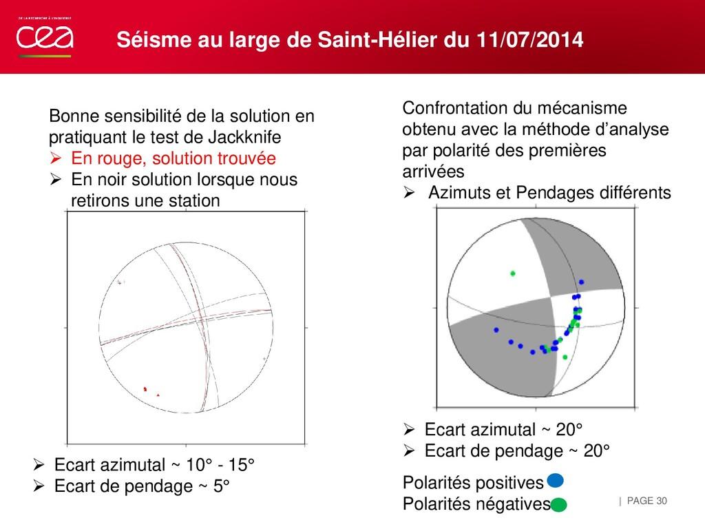 | PAGE 30 Séisme au large de Saint-Hélier du 11...