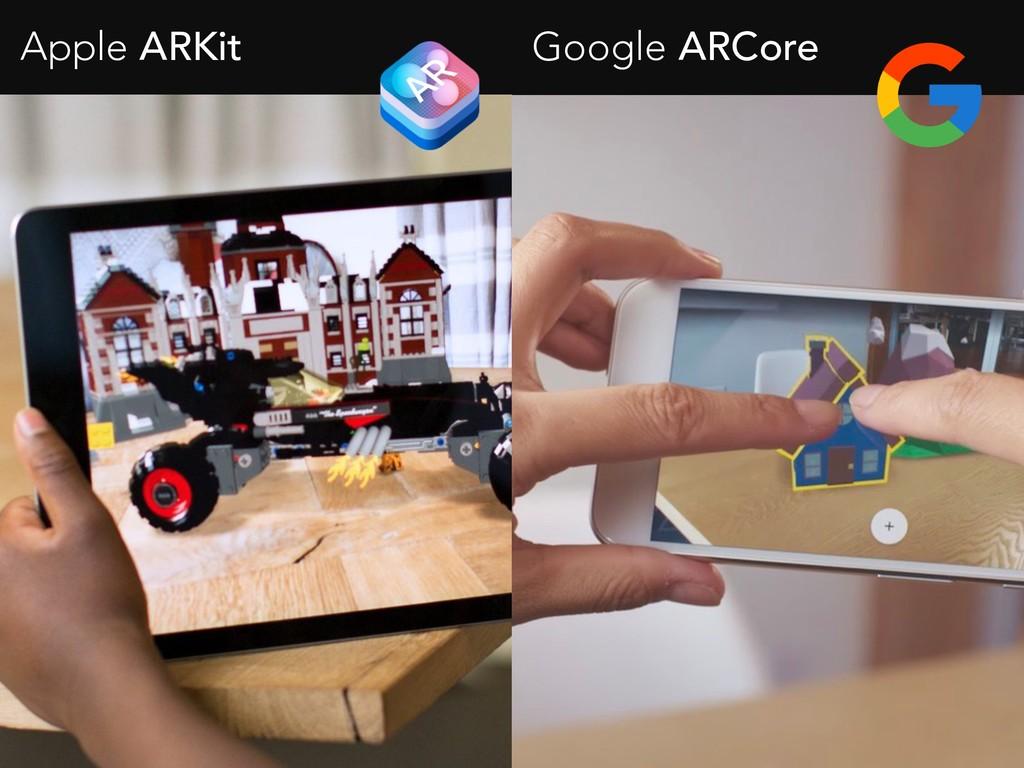 Apple ARKit Google ARCore