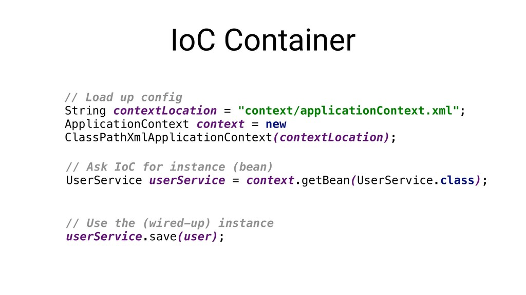 IoC Container // Load up config String contextL...