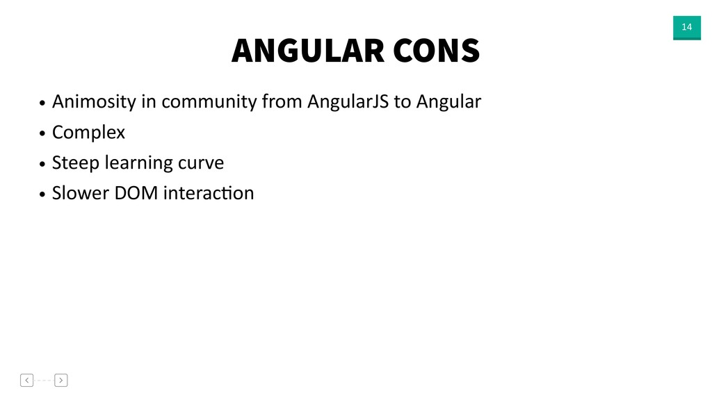 ANGULAR CONS 14 • Animosity in community from A...