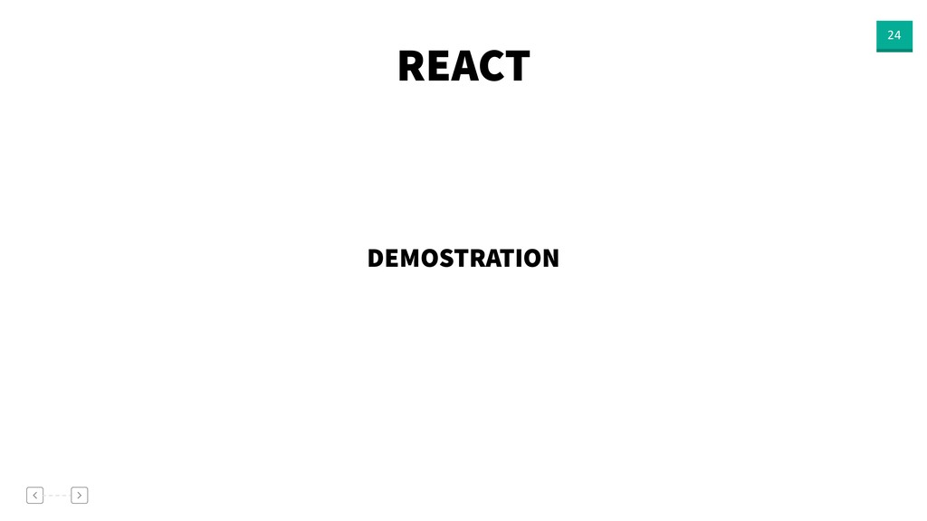 REACT 24 DEMOSTRATION
