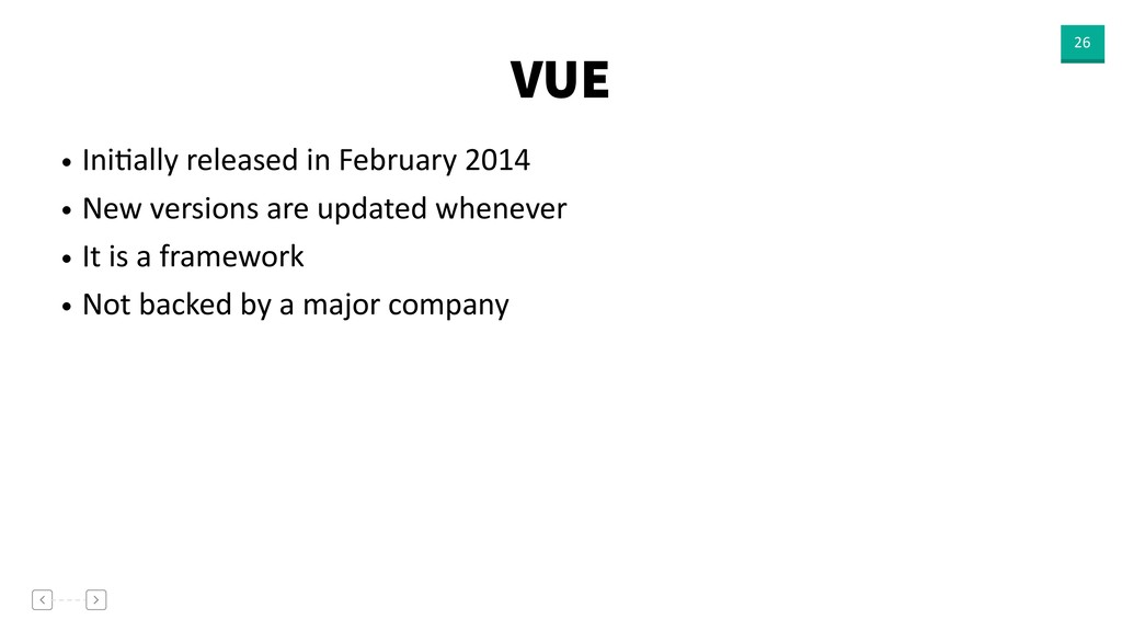 VUE 26 • IniVally released in February 2014 • N...