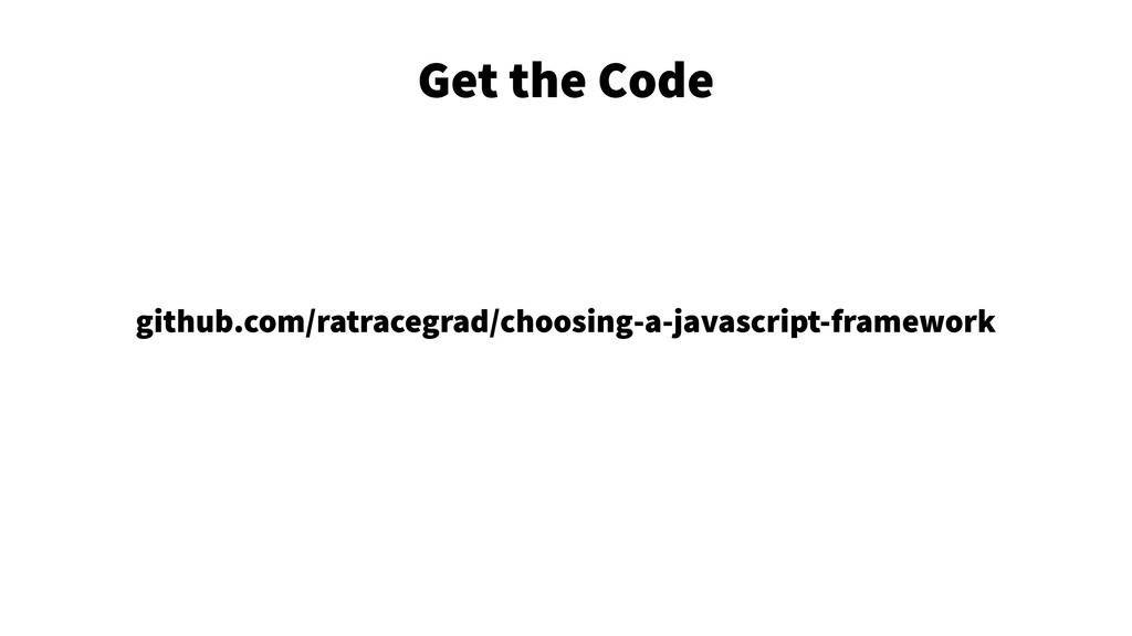 Get the Code 4 github.com/ratracegrad/choosing-...