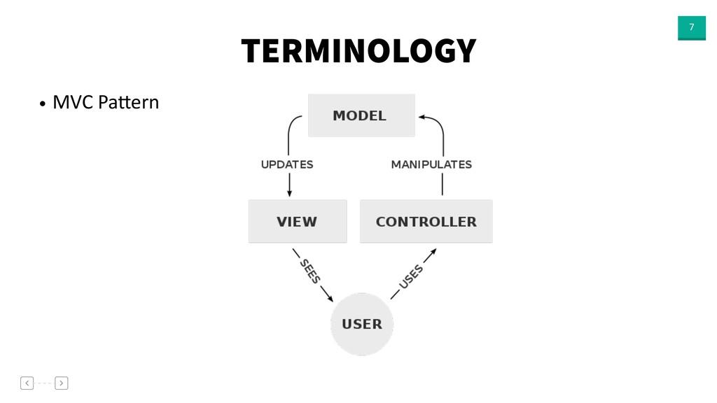 TERMINOLOGY 7 • MVC PaNern