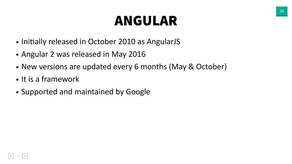 ANGULAR 10 • IniVally released in October 2010 ...