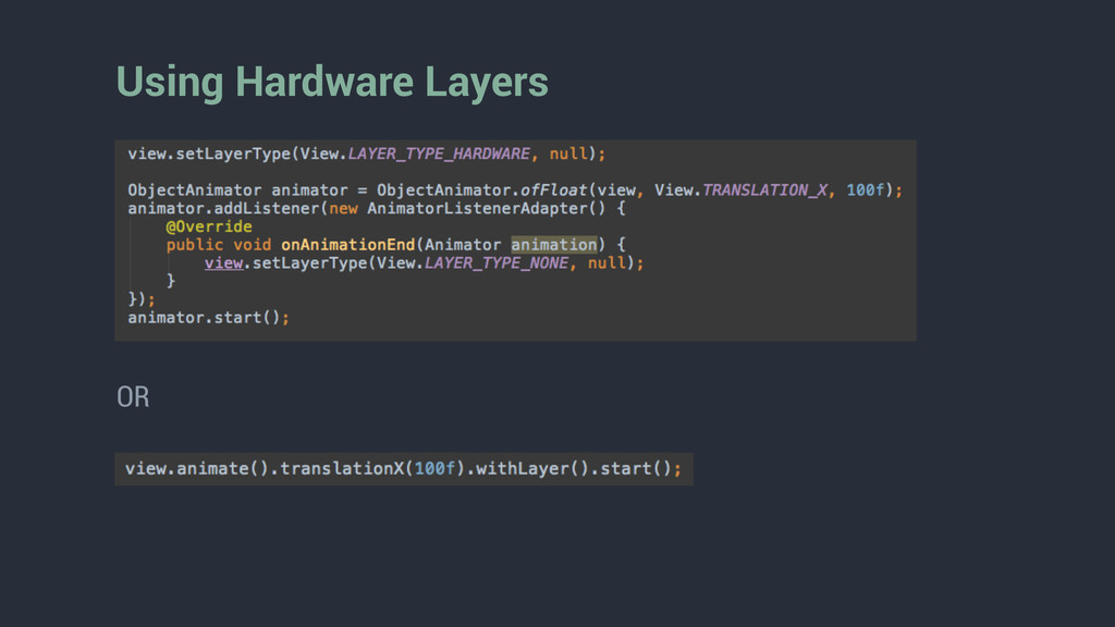 Using Hardware Layers OR