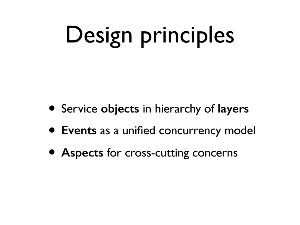 Design principles • Service objects in hierarch...