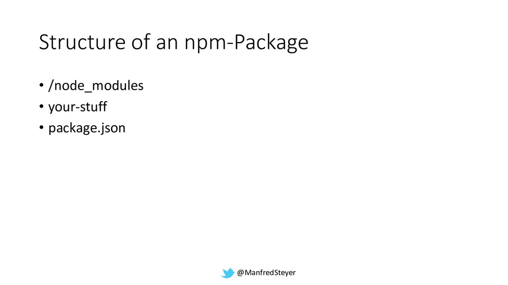 @ManfredSteyer Structure of an npm-Package • /n...