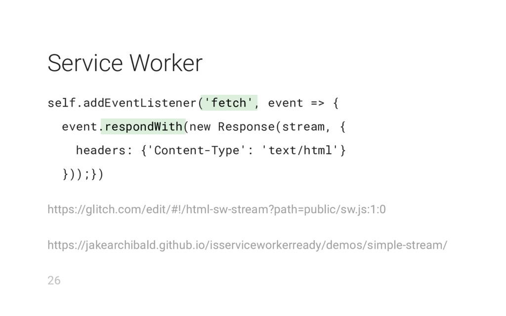 'fetch' respondWith Service Worker self.addEven...
