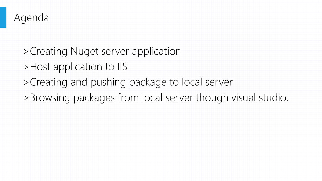 >Creating Nuget server application >Host applic...