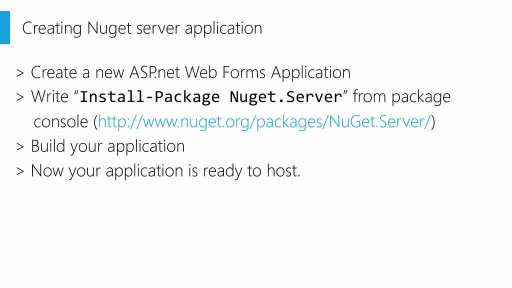 > Create a new ASP .net Web Forms Application >...