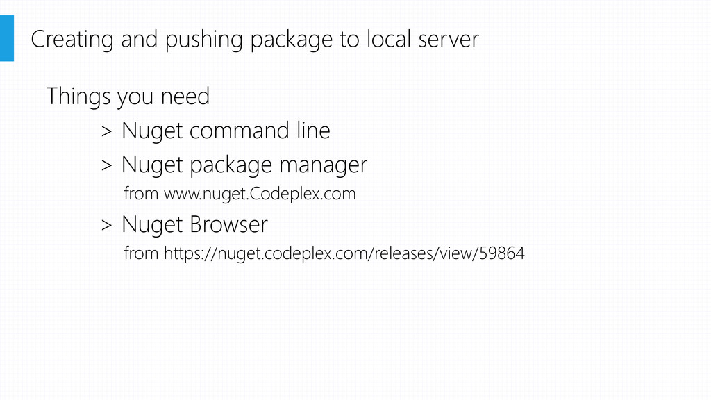 Creating and pushing package to local server Th...