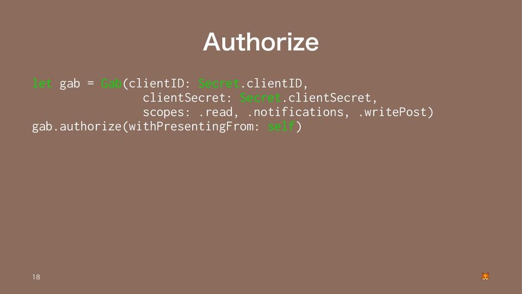 """""""VUIPSJ[F let gab = Gab(clientID: Secret.client..."""