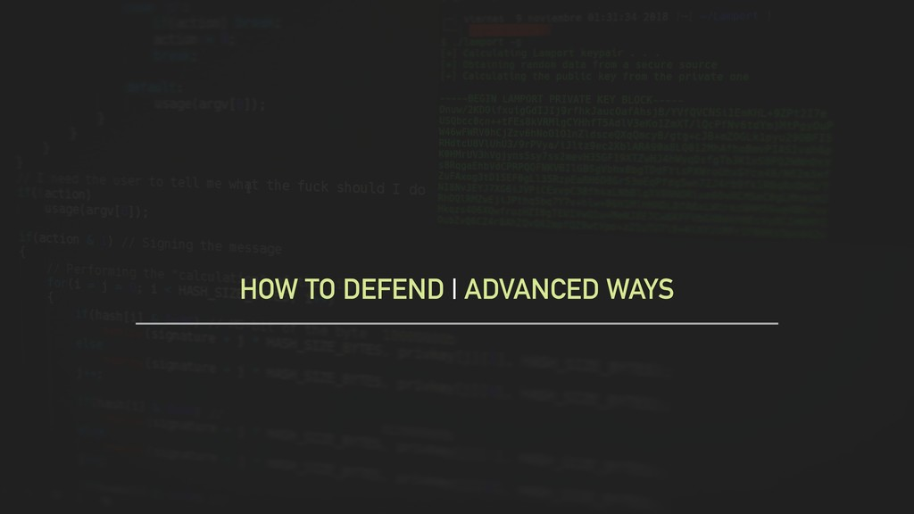 HOW TO DEFEND | ADVANCED WAYS