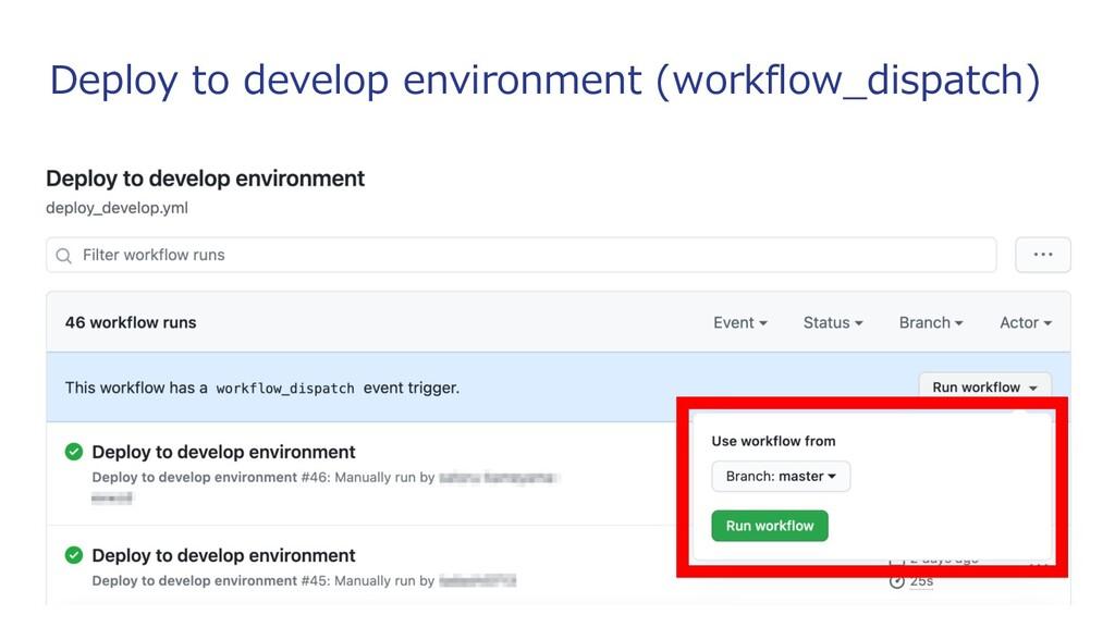 Deploy to develop environment (workflow_dispatc...