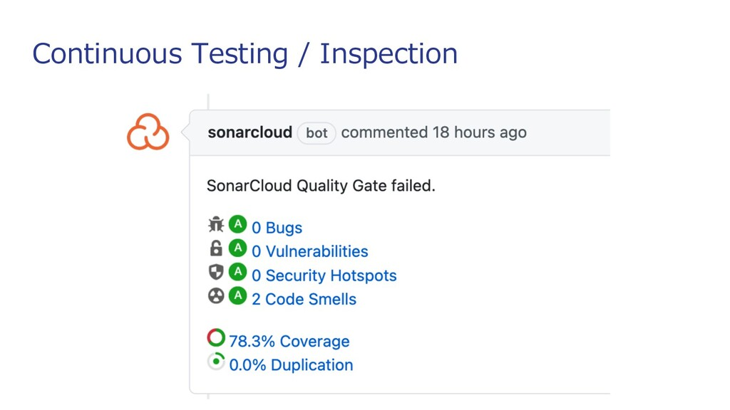 Continuous Testing / Inspection