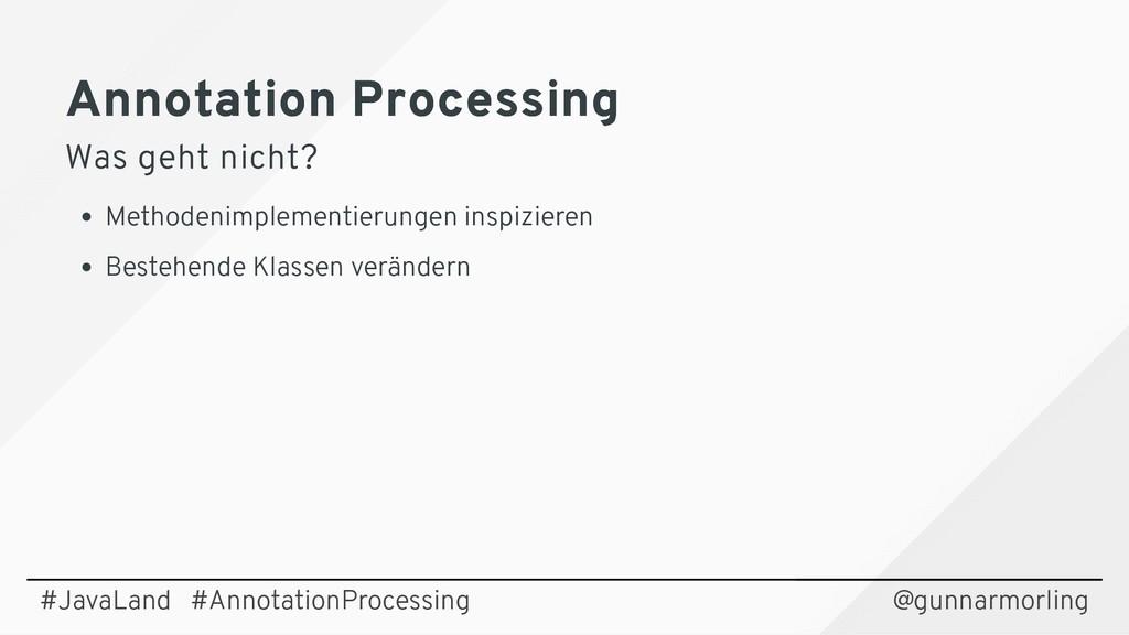 Annotation Processing Annotation Processing Was...