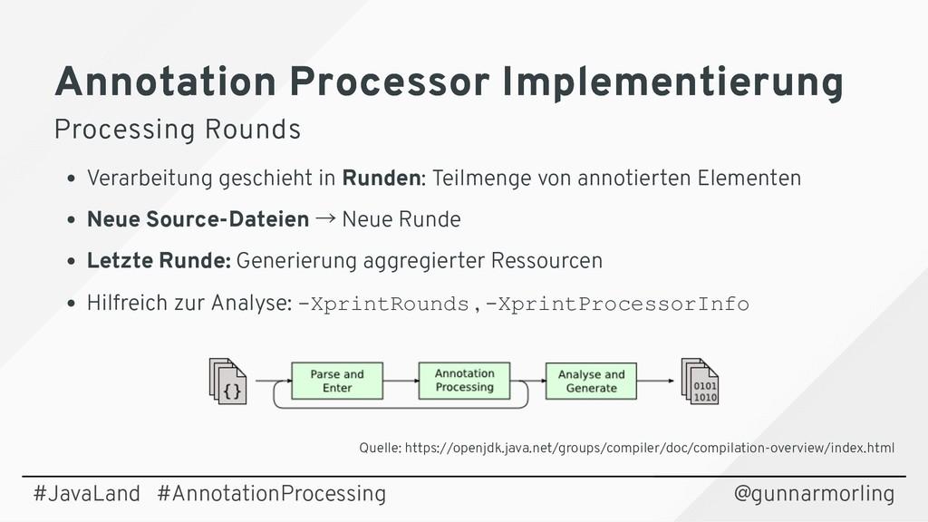 Annotation Processor Implementierung Annotation...