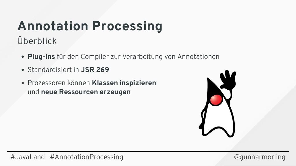 Annotation Processing Annotation Processing Übe...