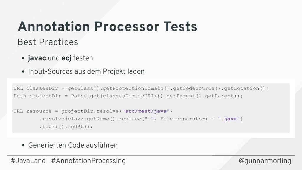 Annotation Processor Tests Annotation Processor...