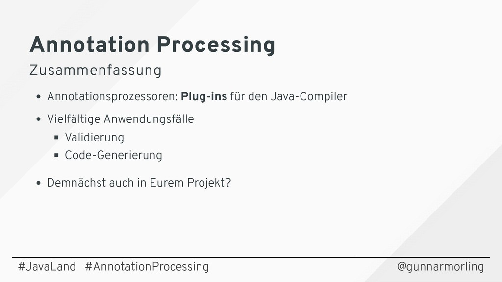 Annotation Processing Annotation Processing Zus...