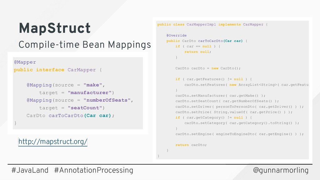 MapStruct MapStruct Compile-time Bean Mappings ...