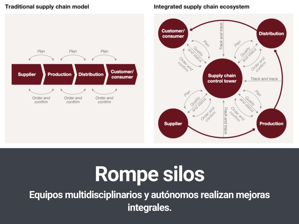 Rompe silos Equipos multidisciplinarios y autón...